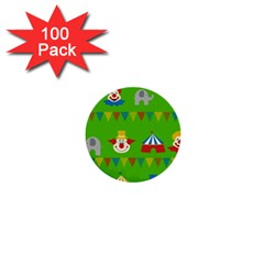 Circus 1  Mini Buttons (100 pack)
