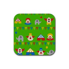 Circus Rubber Square Coaster (4 pack)