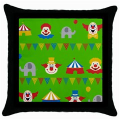 Circus Throw Pillow Case (Black)