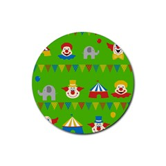 Circus Rubber Round Coaster (4 pack)