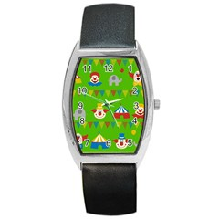 Circus Barrel Style Metal Watch