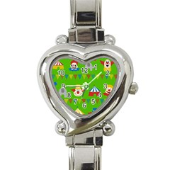 Circus Heart Italian Charm Watch