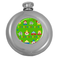Circus Round Hip Flask (5 oz)