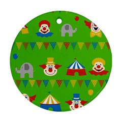 Circus Round Ornament (Two Sides)