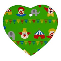Circus Heart Ornament (Two Sides)