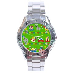 Circus Stainless Steel Analogue Watch