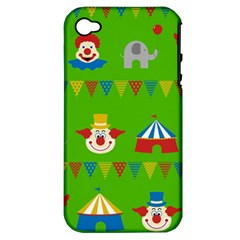 Circus Apple iPhone 4/4S Hardshell Case (PC+Silicone)