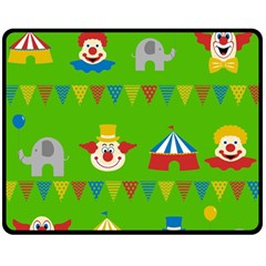 Circus Double Sided Fleece Blanket (Medium)