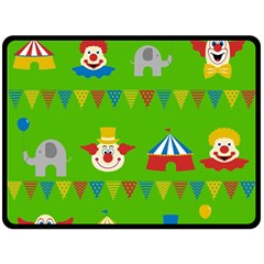 Circus Double Sided Fleece Blanket (Large)