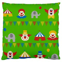 Circus Large Flano Cushion Case (Two Sides)