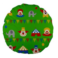 Circus Large 18  Premium Flano Round Cushions by Valentinaart