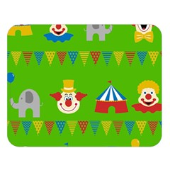 Circus Double Sided Flano Blanket (Large)