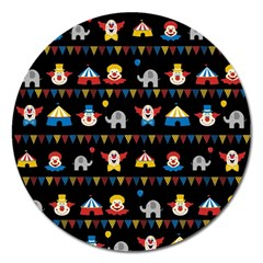 Circus Magnet 5  (round) by Valentinaart