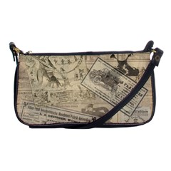 Vintage Newspaper  Shoulder Clutch Bags by Valentinaart