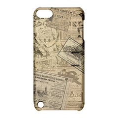 Vintage Newspaper  Apple Ipod Touch 5 Hardshell Case With Stand
