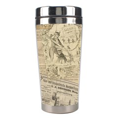 Vintage Newspaper  Stainless Steel Travel Tumblers by Valentinaart