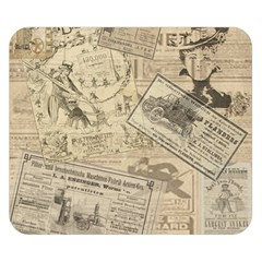 Vintage Newspaper  Double Sided Flano Blanket (small)  by Valentinaart