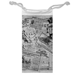 Vintage Newspaper  Jewelry Bag by Valentinaart