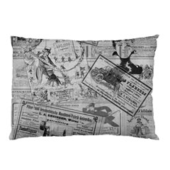 Vintage Newspaper  Pillow Case by Valentinaart