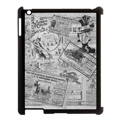 Vintage Newspaper  Apple Ipad 3/4 Case (black) by Valentinaart
