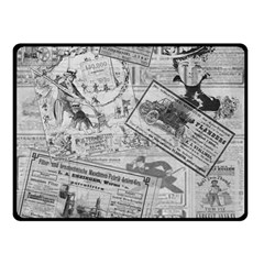 Vintage Newspaper  Double Sided Fleece Blanket (small)