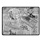 Vintage newspaper  Double Sided Fleece Blanket (Small)  45 x34  Blanket Front