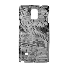 Vintage Newspaper  Samsung Galaxy Note 4 Hardshell Case by Valentinaart