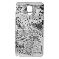 Vintage Newspaper  Galaxy Note 4 Back Case by Valentinaart