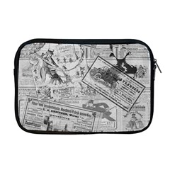 Vintage Newspaper  Apple Macbook Pro 17  Zipper Case by Valentinaart