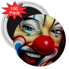 Clown 3  Magnets (100 Pack) by Valentinaart