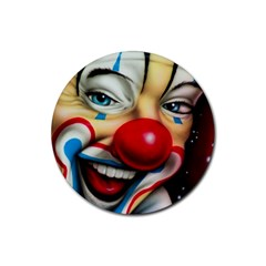 Clown Rubber Round Coaster (4 Pack)  by Valentinaart