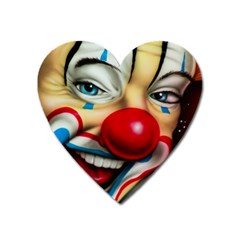 Clown Heart Magnet by Valentinaart