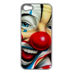 Clown Apple Iphone 5 Case (silver) by Valentinaart