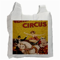 Vintage Circus  Recycle Bag (one Side) by Valentinaart