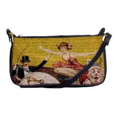 Vintage Circus  Shoulder Clutch Bags by Valentinaart