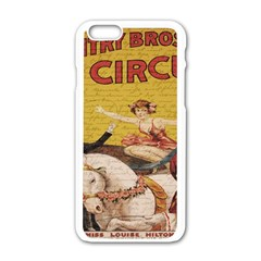 Vintage Circus  Apple Iphone 6/6s White Enamel Case by Valentinaart