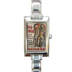 Vintage Circus  Rectangle Italian Charm Watch