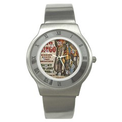 Vintage Circus  Stainless Steel Watch by Valentinaart