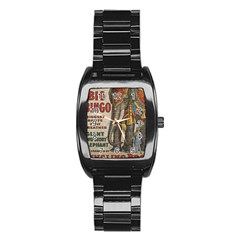 Vintage Circus  Stainless Steel Barrel Watch by Valentinaart