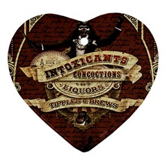 Vintage Circus  Ornament (heart) by Valentinaart