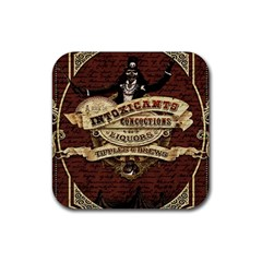 Vintage Circus  Rubber Square Coaster (4 Pack)  by Valentinaart