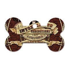 Vintage Circus  Dog Tag Bone (two Sides) by Valentinaart