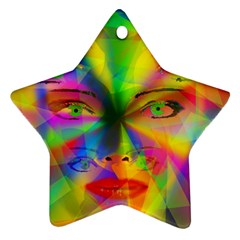 Rainbow Girl Star Ornament (two Sides) by Valentinaart