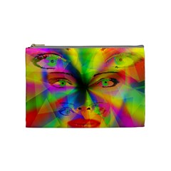 Rainbow Girl Cosmetic Bag (medium)  by Valentinaart