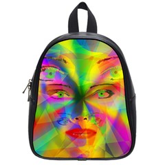 Rainbow Girl School Bags (small)  by Valentinaart