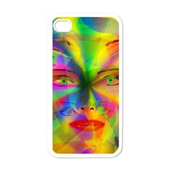 Rainbow Girl Apple Iphone 4 Case (white) by Valentinaart