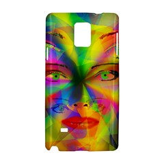 Rainbow Girl Samsung Galaxy Note 4 Hardshell Case by Valentinaart