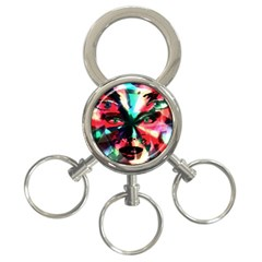Abstract Girl 3 Ring Key Chains by Valentinaart