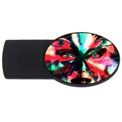 Abstract Girl Usb Flash Drive Oval (4 Gb) by Valentinaart