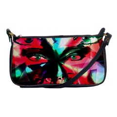 Abstract Girl Shoulder Clutch Bags by Valentinaart